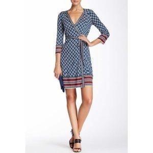 Diane von Furstenberg Tallulah Wrap Dress 10 Silk